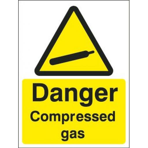 Danger Compressed gas
