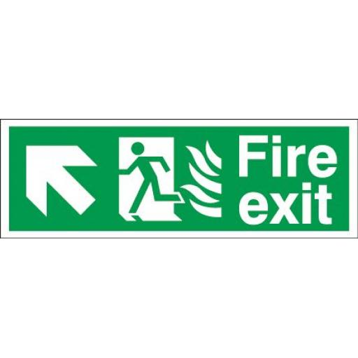 Fire exit - Flame - Running man - Up left arrow
