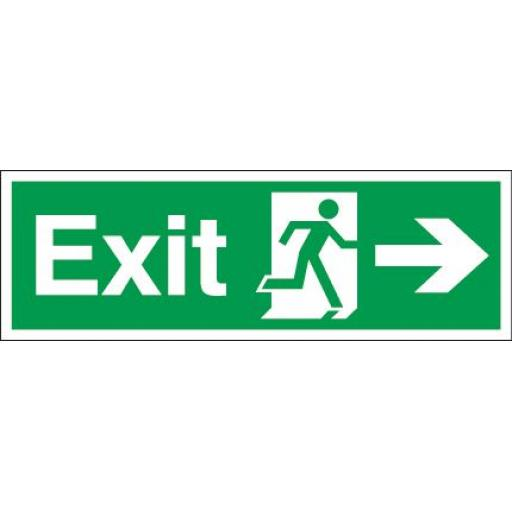Exit - Running man - Right arrow