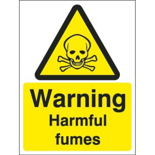 Warning Harmful fumes