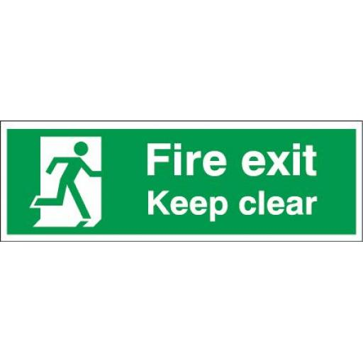 Fire exit - Keep clear - Running man right