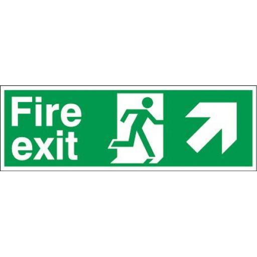 Fire exit - Running man - Right up arrow