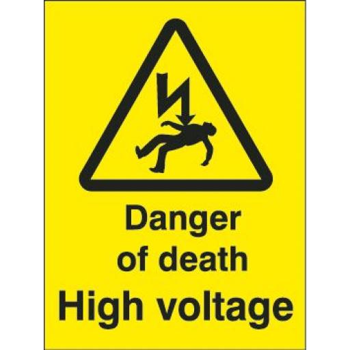 Danger of death High voltage