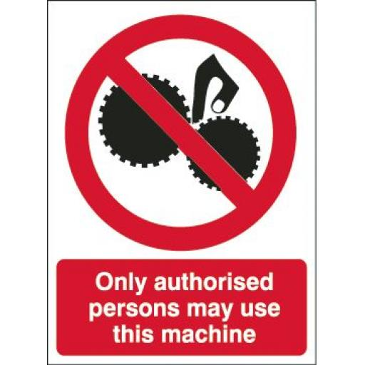 Only authorised persons may use this machine