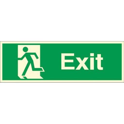 Exit - Running man left (Photoluminescent)