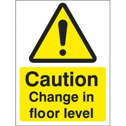 Caution Change in floor level