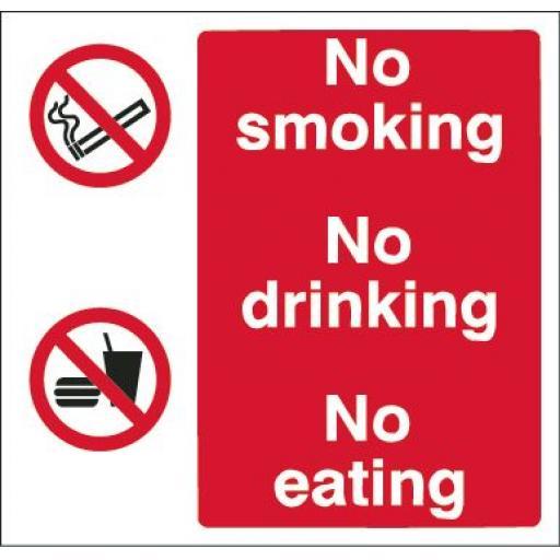 No smoking / No drinking / No eating