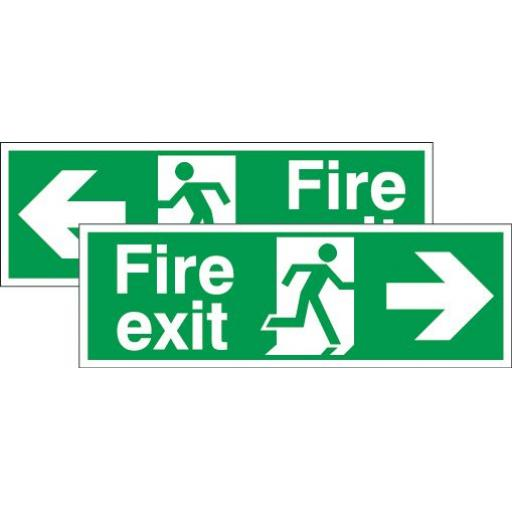 Fire exit - Running man - Right arrow or Left arrow (Double sided)