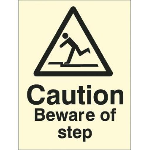 Caution Beware of step (Photoluminescent)