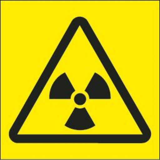Radiation logo (Yellow Background)