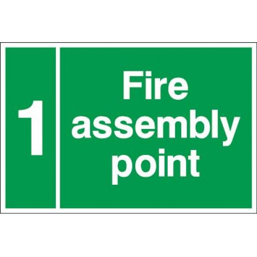 Fire assembly point 1 (Please state when ordering what number or letter is required)