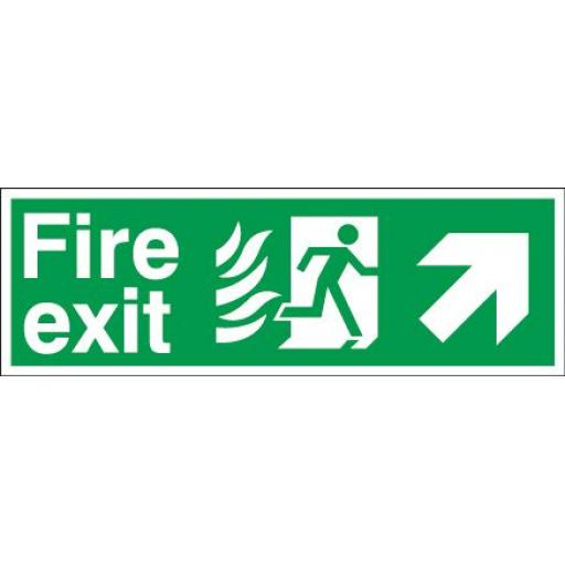 Fire exit - Flame - Running man - Up right arrow