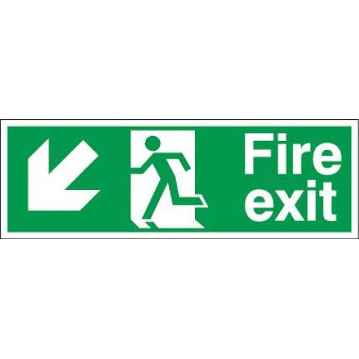 Fire exit - Running man - Down left arrow