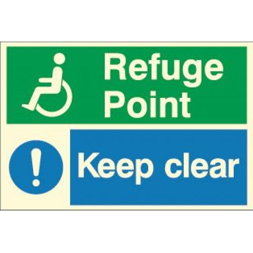 Refuge Point - Keep clear (Photoluminescent)