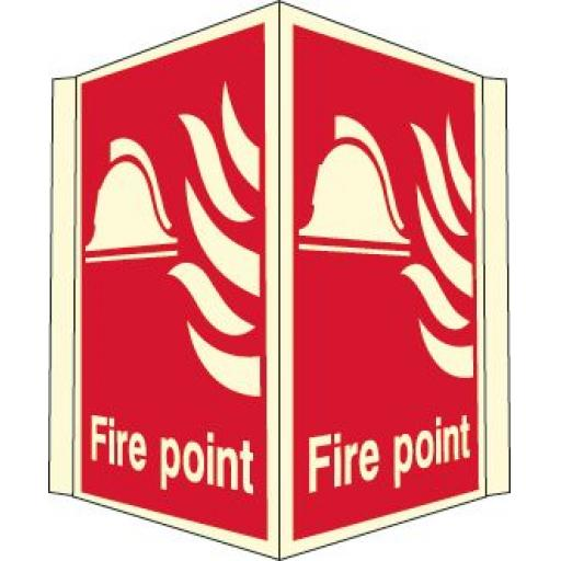 Fire point (Projecting signPhotoluminescent)