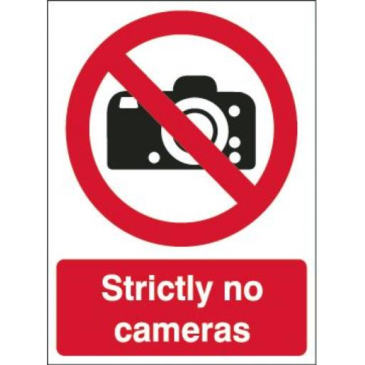 Strictly no cameras