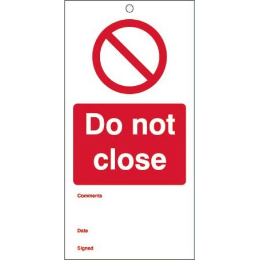 Do not close