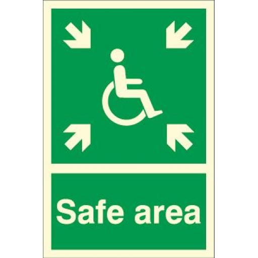 Safe area - Disabled logo (Photoluminescent)