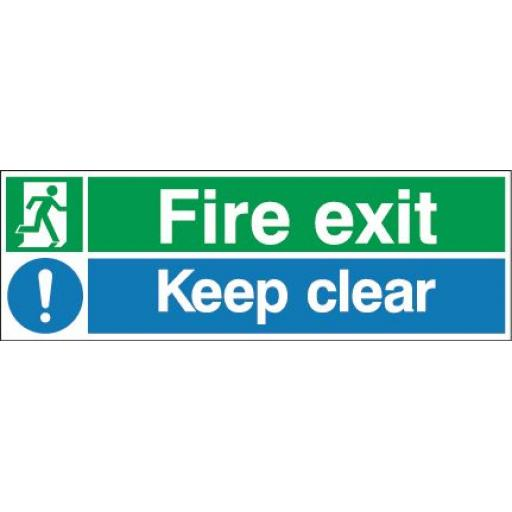 Fire exit - Running man - Keep clear