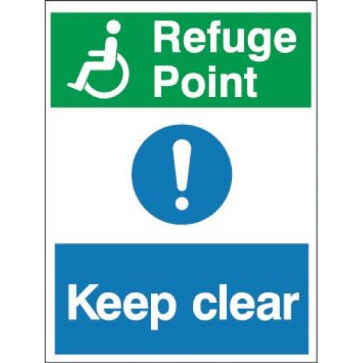 Disabled logo - Refuge Point - Keep clear