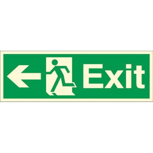 Exit - Running man - Left arrow (Photoluminescent)