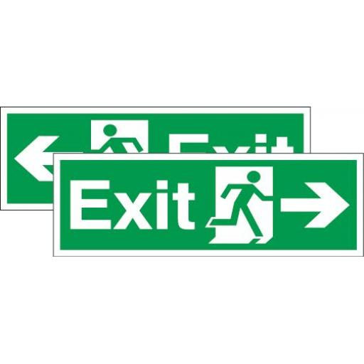 Exit - Running man - Right arrow or Left arrow (Double sided)