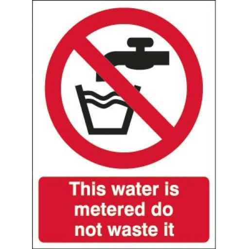 This water is metered do not waste it