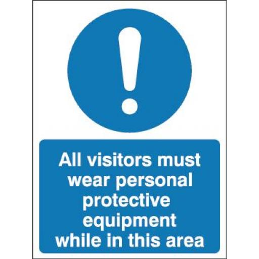 All visitors must wear personal protective equipment while in this area