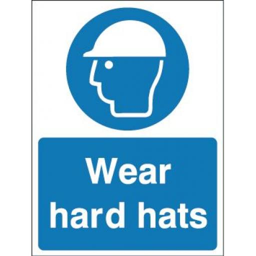 Wear hard hats
