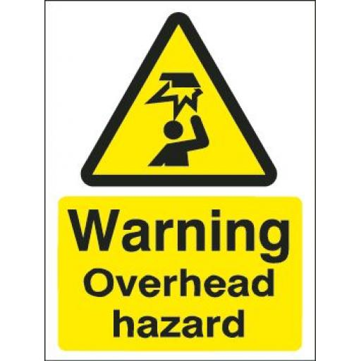 Warning Overhead hazard