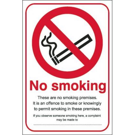 No smoking These are no smoking premises
