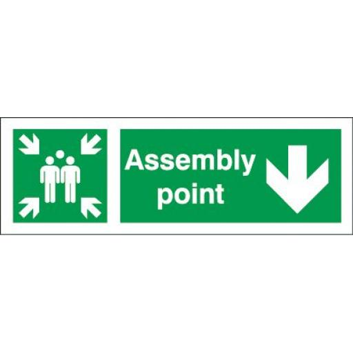 Assembly point - Down arrow