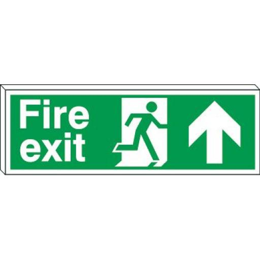 Fire exit - Running man - Up arrow (Double sided)