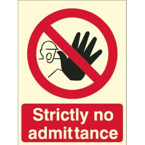 Strictly no admittance (Photoluminescent)