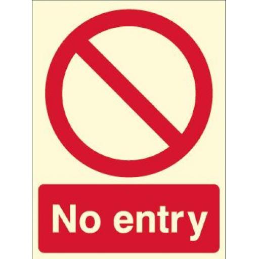 No entry (Photoluminescent)