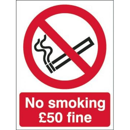 No smoking £50 fine