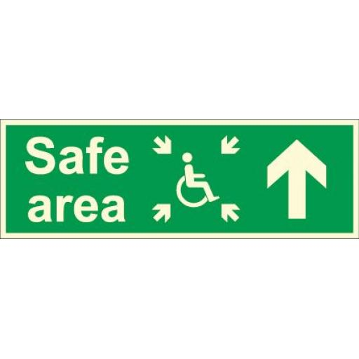 Safe area - Disabled logo - Arrow up (Photoluminescent)