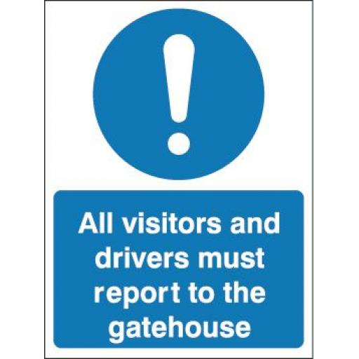All visitors and drivers must report to the gatehouse