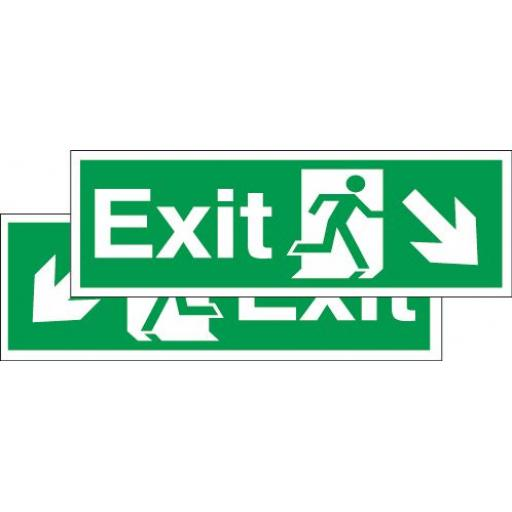 Exit - Running man - Down right arrow or Down left arrow (Double sided)