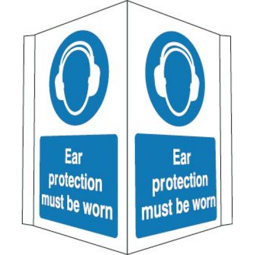 Ear protection must be worn (Projecting sign)