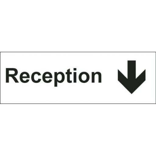 Reception - Arrow down (Double sided)