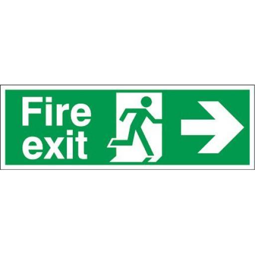 Fire exit - Running man - Right arrow