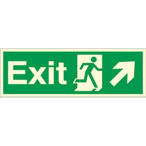 Exit - Running man - Right up arrow (Photoluminescent)