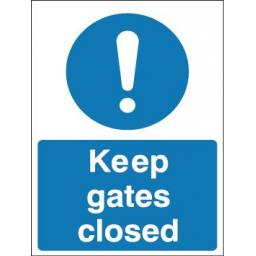 Keep gates closed