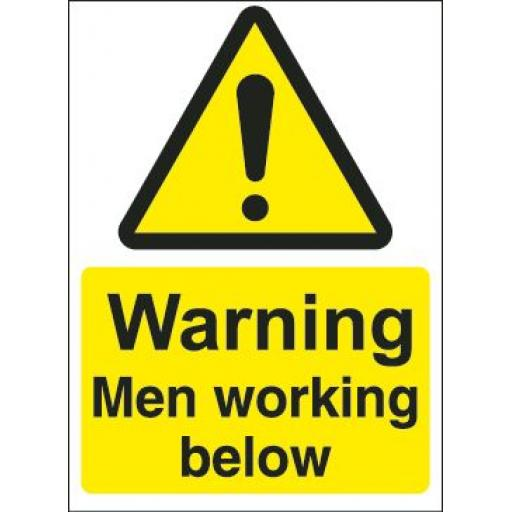 Warning Men working below