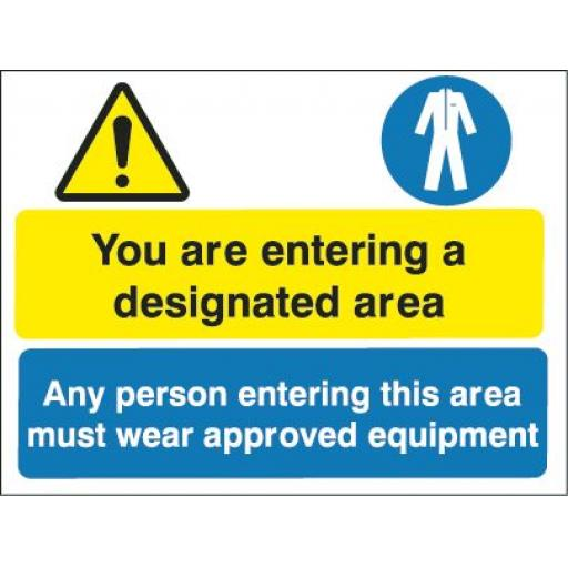 You are entering a designated area