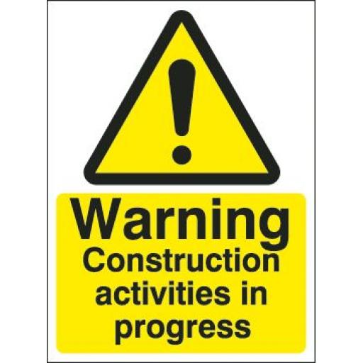 Warning Construction activities in progress