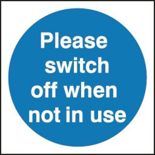 Please switch off when not in use