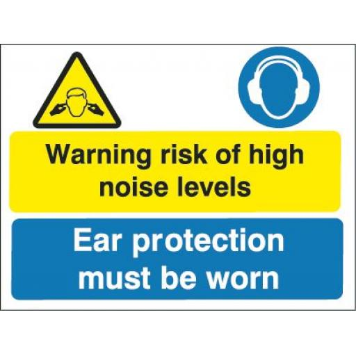 Warning risk of high noise levels