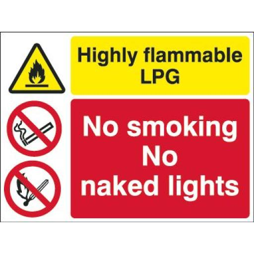 Highly flammable LPG No smoking No naked lights